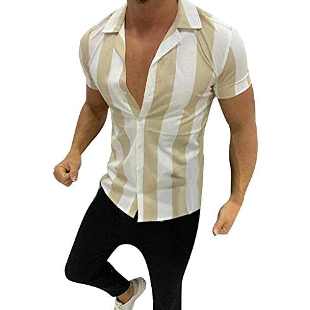 camicia button down manica corta da uomo slim fitness