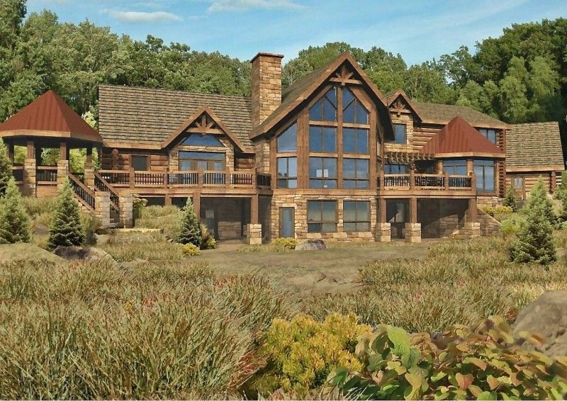 Herrington Point - Log Homes, Cabins and Log Home Floor Plans