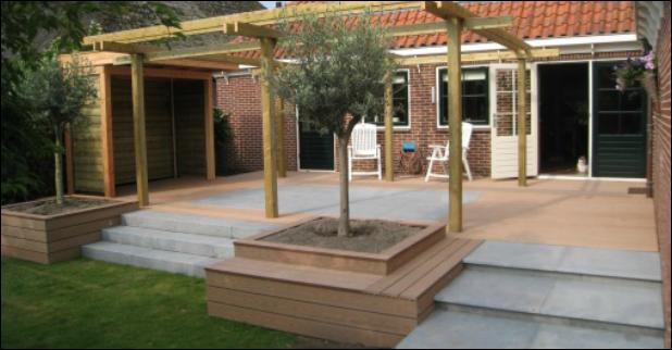 Verhoogd terras google zoeken huis tuin pinterest - Terras eigentijds huis ...