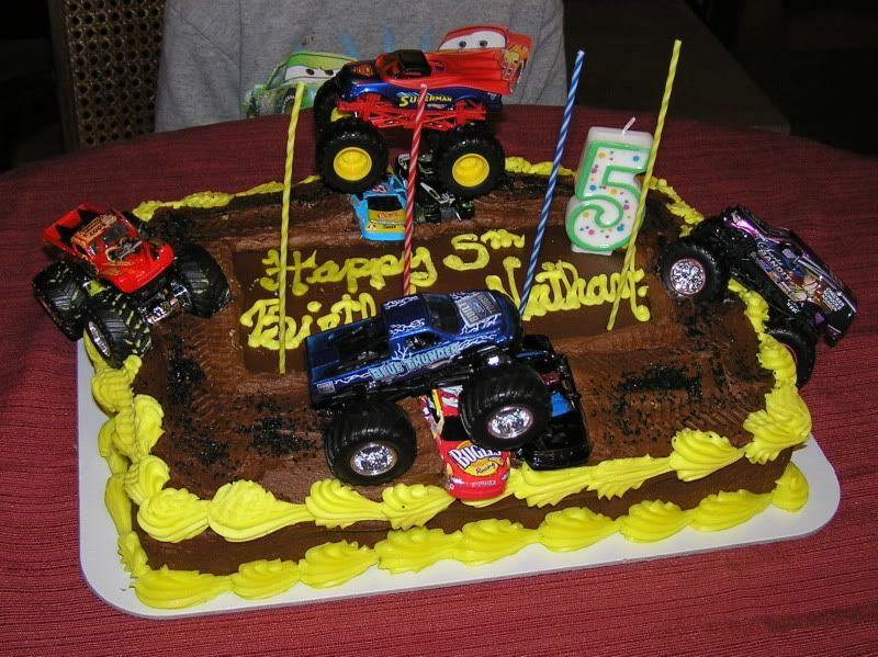 Big Truck Birthday Cakes FordFEcom Gallery OT My sons Monster