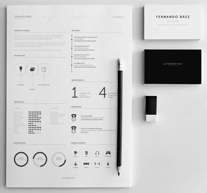 Checkt diese minimalistische PSD-Lösung mit einer eleganten - free printable resume templates online