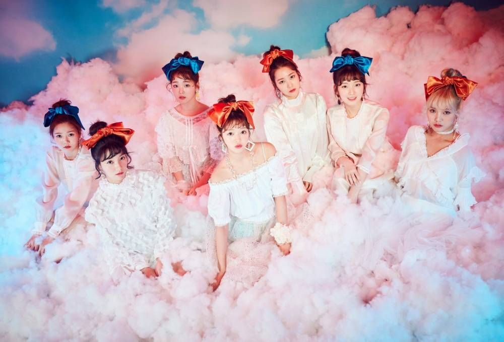 Oh My Girl Are Angels In The Clouds In Newest Teaser Image For For Coloring Book My Girl Coloring Book Album Kpop Girl Groups