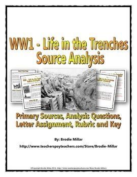 Photo of World War One – Life in the Trenches – Source Analysis (Questions, Assignment)