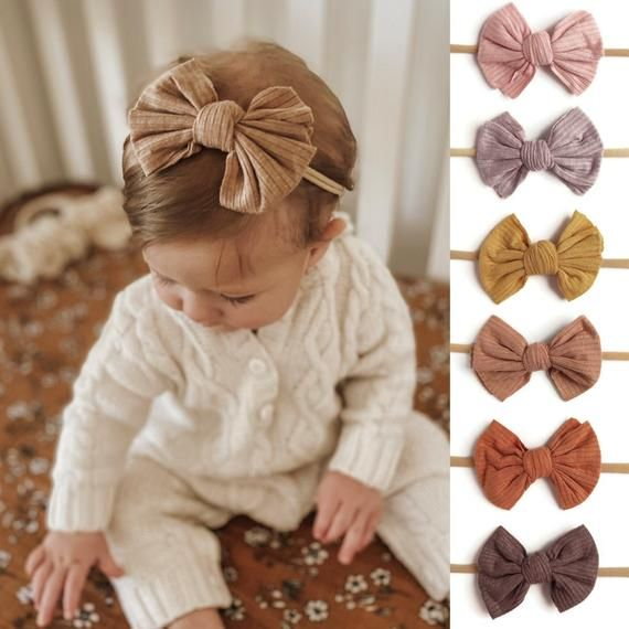 Baby Headband Baby Hair Bow Baby Girl Bows Top Knot Newborn Headband Knot Bow Baby Headwrap Baby Accessories Girls Hair Clips
