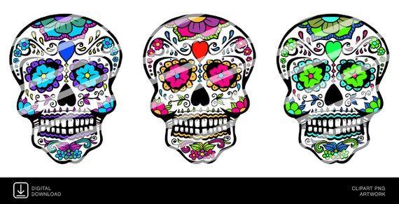 Calavera Carnival Skulls – Tag der Toten – Clipart PNG Artwork Illustrationen – Copyright Free – Di   – Products