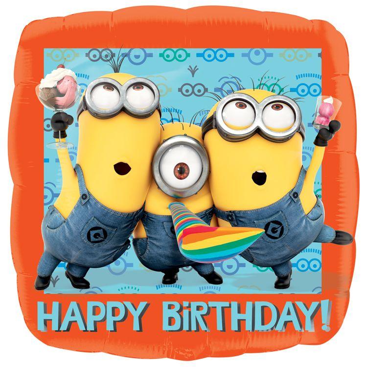 minions happy birthday  happy birthday foil balloons