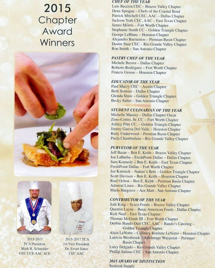 CONGRATULATIONS TO * Francis Grosse – Pastry Chef of the Year * Alain LeNôtre – Contributor of the Year