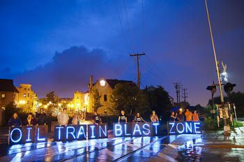 California Oil train protest..Stop before they Start