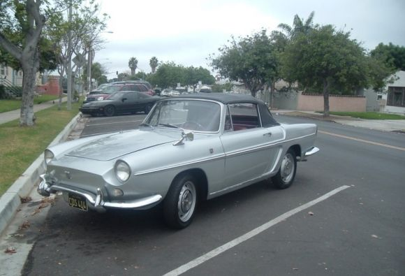 Black Plate 1963 Renault Caravelle Convertible My New