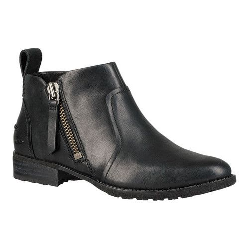 fc4b558b371 Women's UGG Aureo Ankle Bootie - Black Full Grain Leather Boots in ...