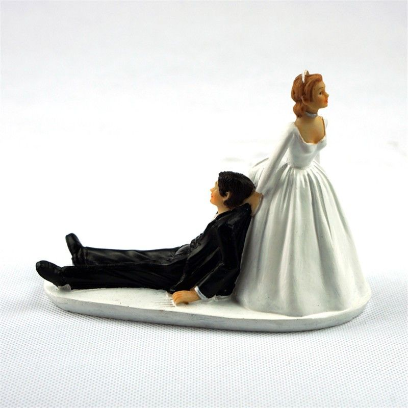 Runaway Groom Funny Cake Topper For Wedding Decoration