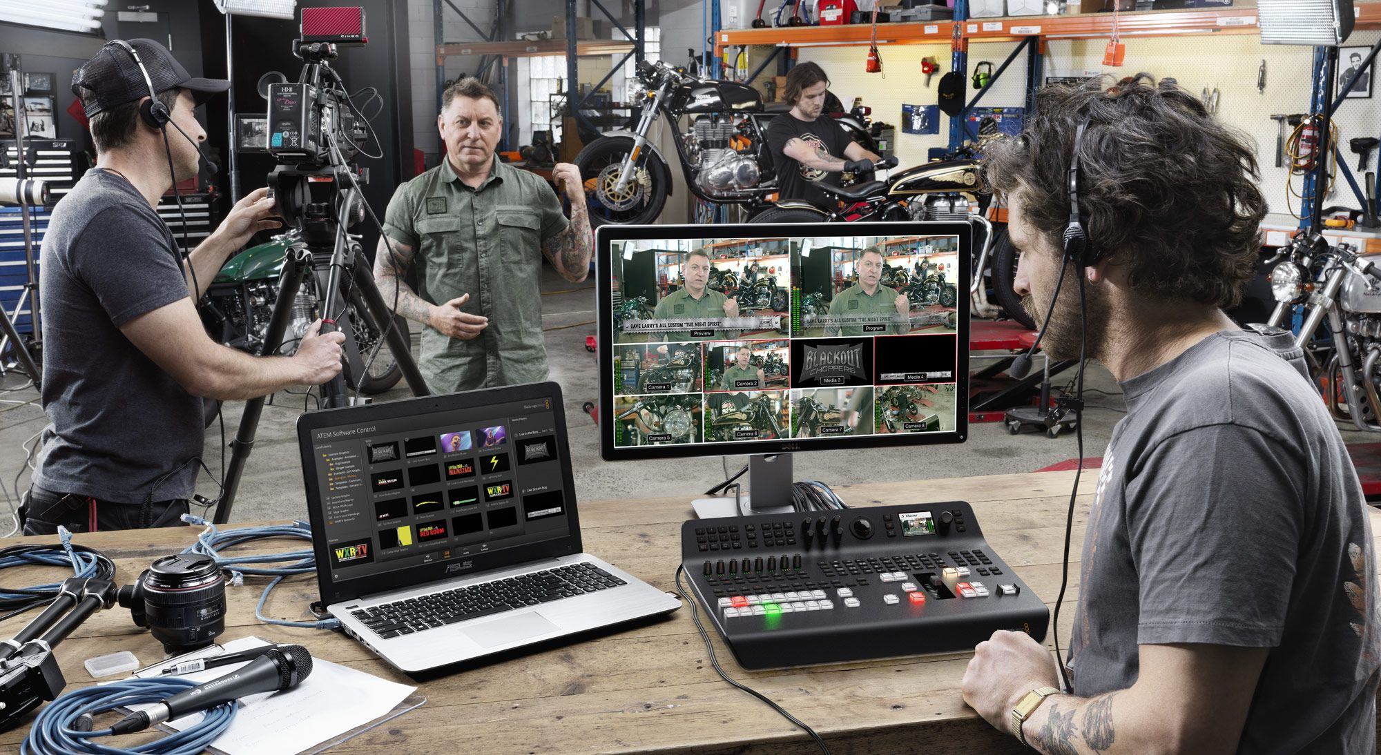 Blackmagic Design Atem Television Studio Pro Hd Live Production Switcher Televisione Tecnologia Studio