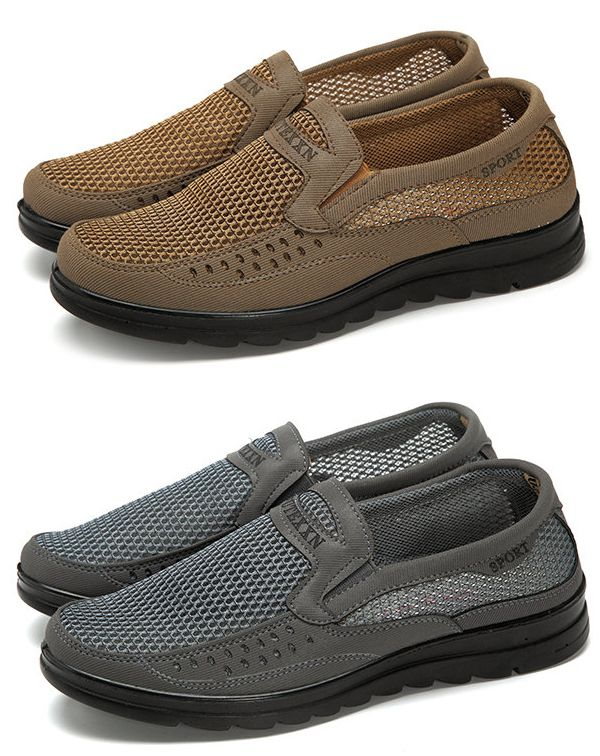 Boxer Dog Men Casual Sport Shoes Quick Drying Slip-On Loafers Shoes