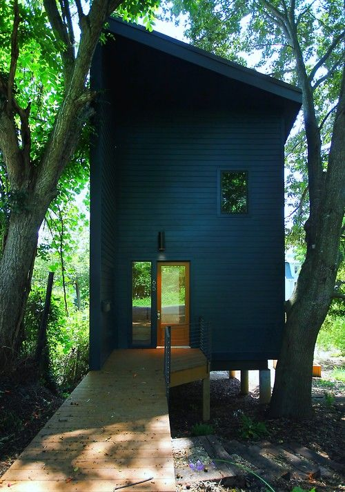 Two Story Tiny House With A Shed Roof / Sustainable Home / The Green Life U003c