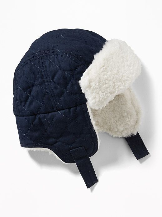 5e7f79389 Quilted Sherpa-Trim Trapper Hat for Baby | Baby and Kids Clothes ...