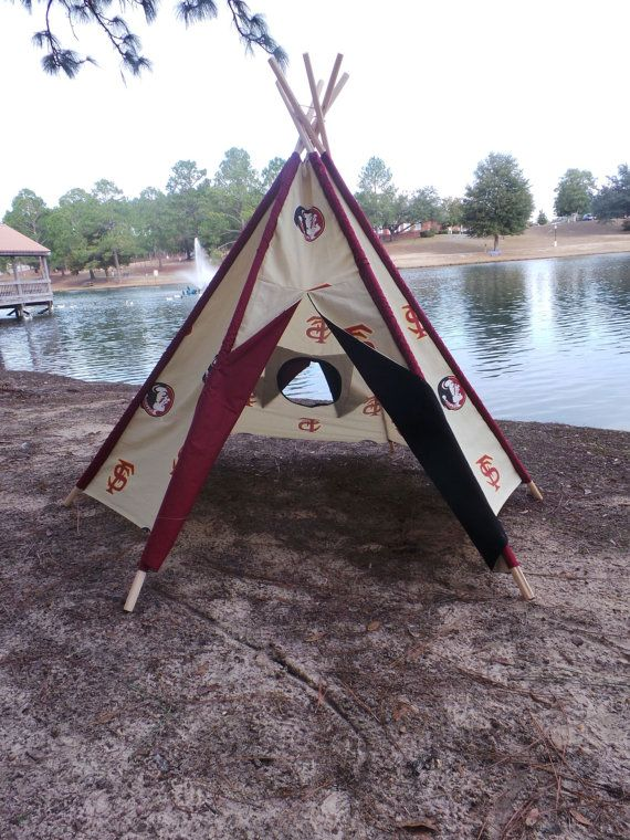 Florida State Seminoles Teepee Play Tent Heavy twill fabric Functioning doors and windows & Florida State Seminoles Teepee Play Tent Heavy twill fabric ...
