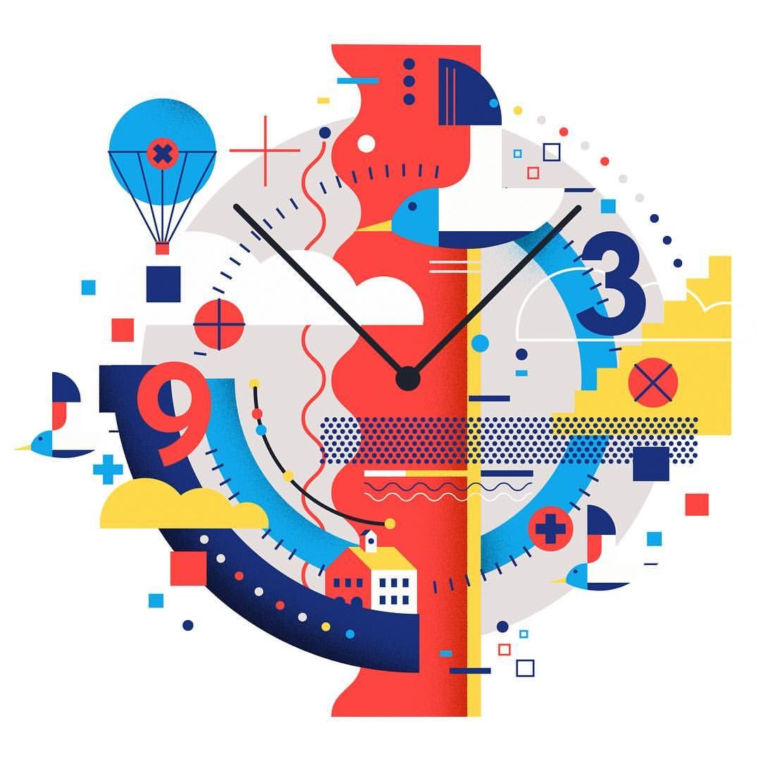 Watch Out Graphic Time Watch Graphic Geometric Illustration Time Tictoc Graphic Illustration Illustrator Inspiration Graphic Design Inspiration