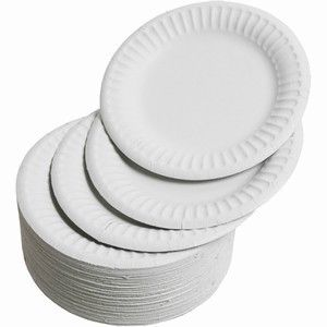 Different sizes including 6 / 7 / 9  Disposable plates. Suitable for parties BBQu0027s and catering outlets. Great disposable catering supplies.  sc 1 st  Pinterest & White paper plates. Different sizes including 6