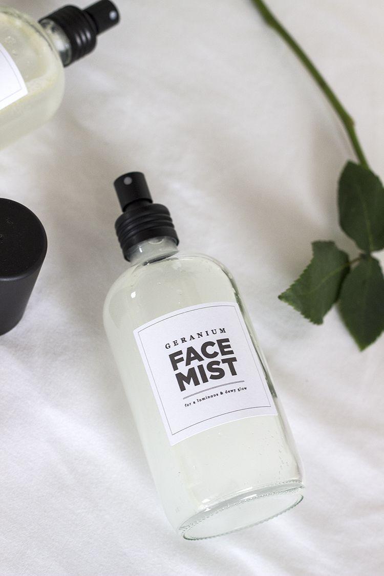 DIY Rose and Geranium Hydrating Face Mists Diy face mist