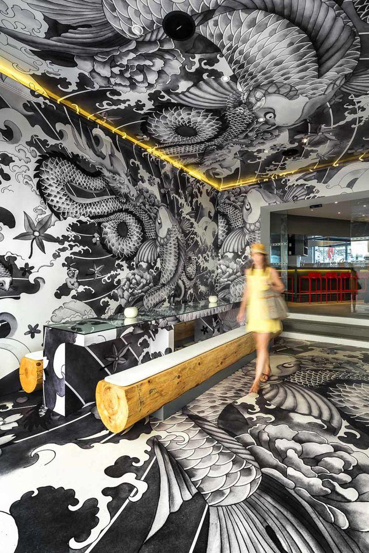 Vincent coste japanese restaurant koi yakuza tattoo for Koi sushi aix en provence