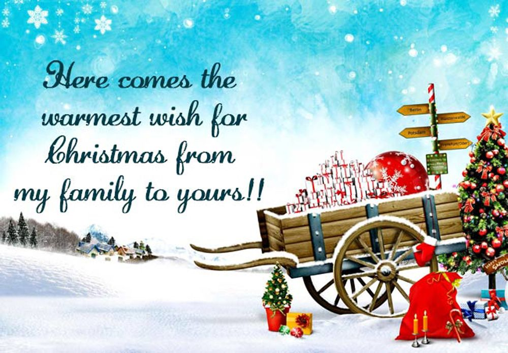 Inspirational Christmas Greeting Card Message With Images