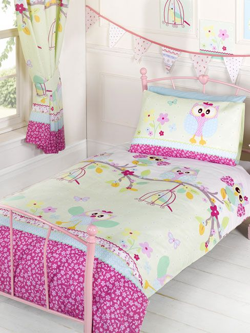 Twit Twoo Owls Single Duvet And Pillowcase Set Bedding Bedroom