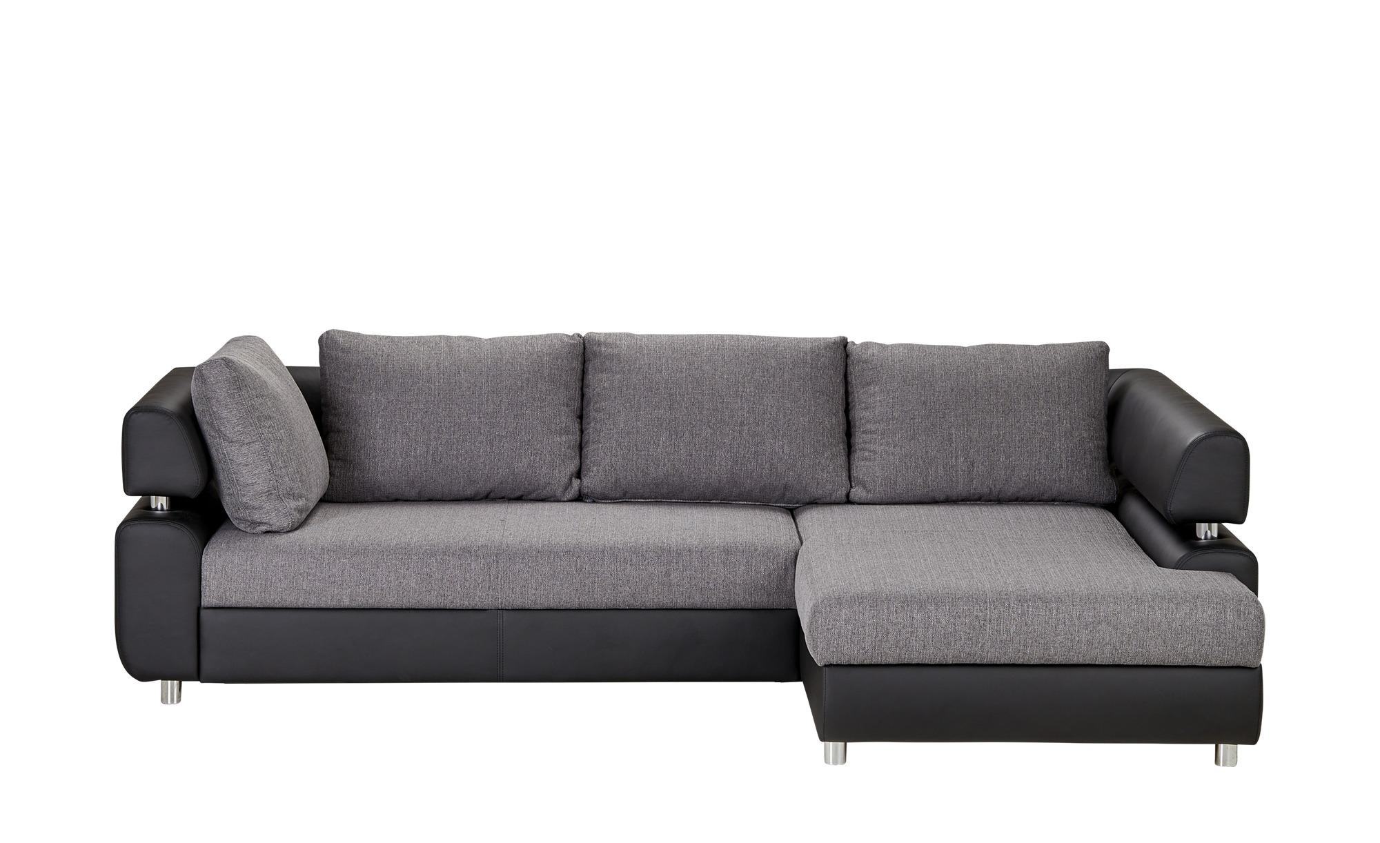 Switch Ecksofa Schwarz Grau Kunstleder Webstoff Panama Grau Masse Cm H 84 Polstermobel Sofas Ecksofas Hoffner Ecksofa Moderne Couch Und Sofa Leder
