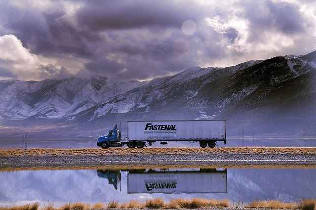 Truck reflection + Mountains