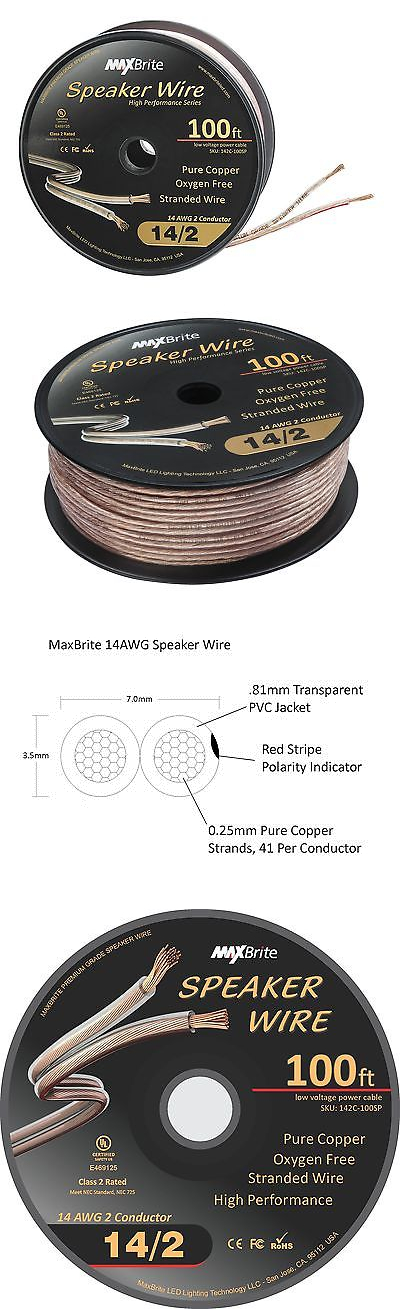 Audio Cables and Interconnects: High Performance 14 Gauge Speaker ...