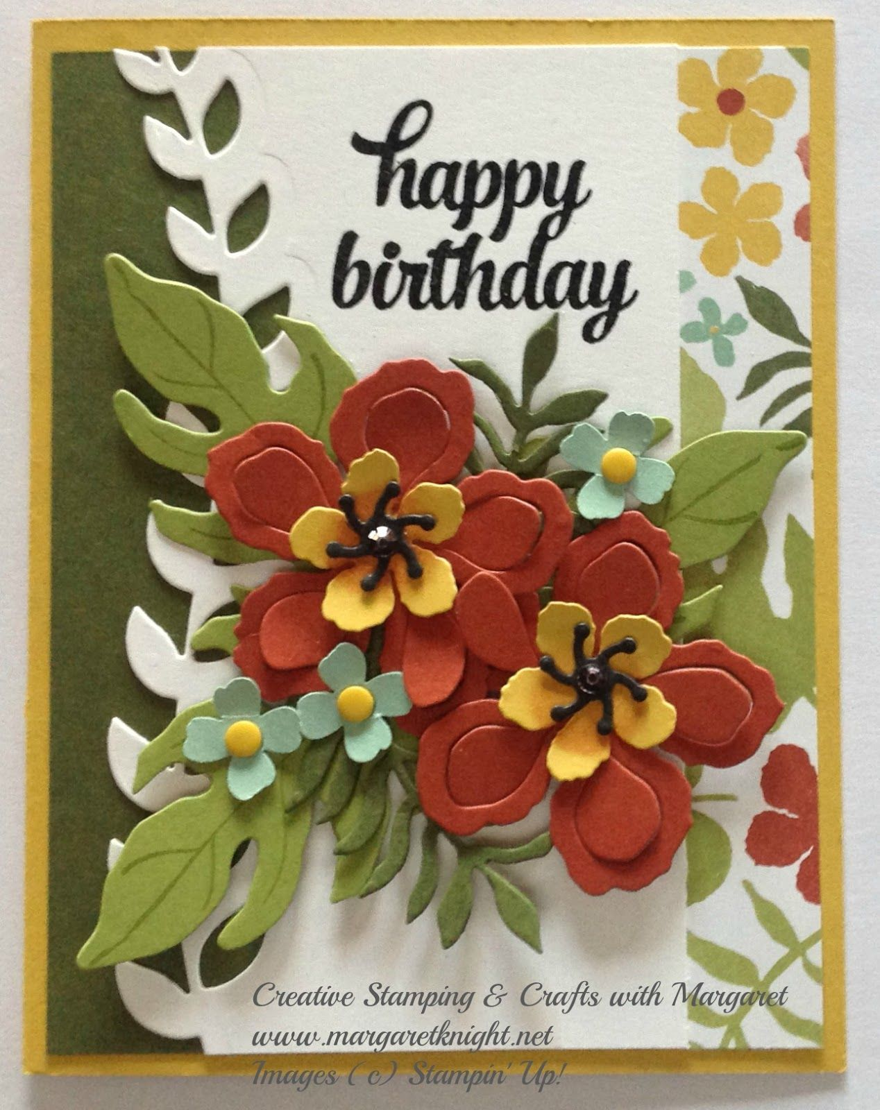Yes I M Still Sharing Cards From The All About Birthdays Class The Card In This Post Uses One Of My Favorite Stamping Up Cards Cards Handmade Flower Cards
