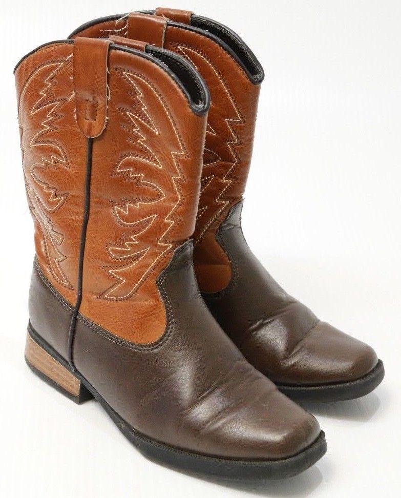 85d3a4765c7 Kid's Smartfit Cowboy Boots Brown Skid Resistant Size 1 #Smartfit ...