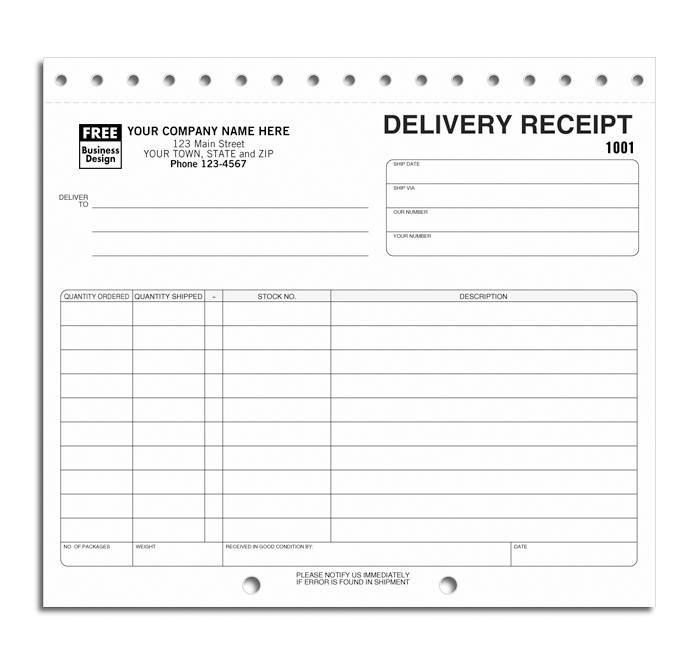 Delivery Receipts Sets  Shipping And Export Forms    Ships