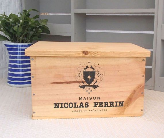 Bread Bin Kitchen Crate Wooden Wine Box Wine Crate Baking Box Crate Storage Box With Lid French Kitchen Farmhouse Kitchen Wooden Wine Boxes Wooden Wine Crates Crates
