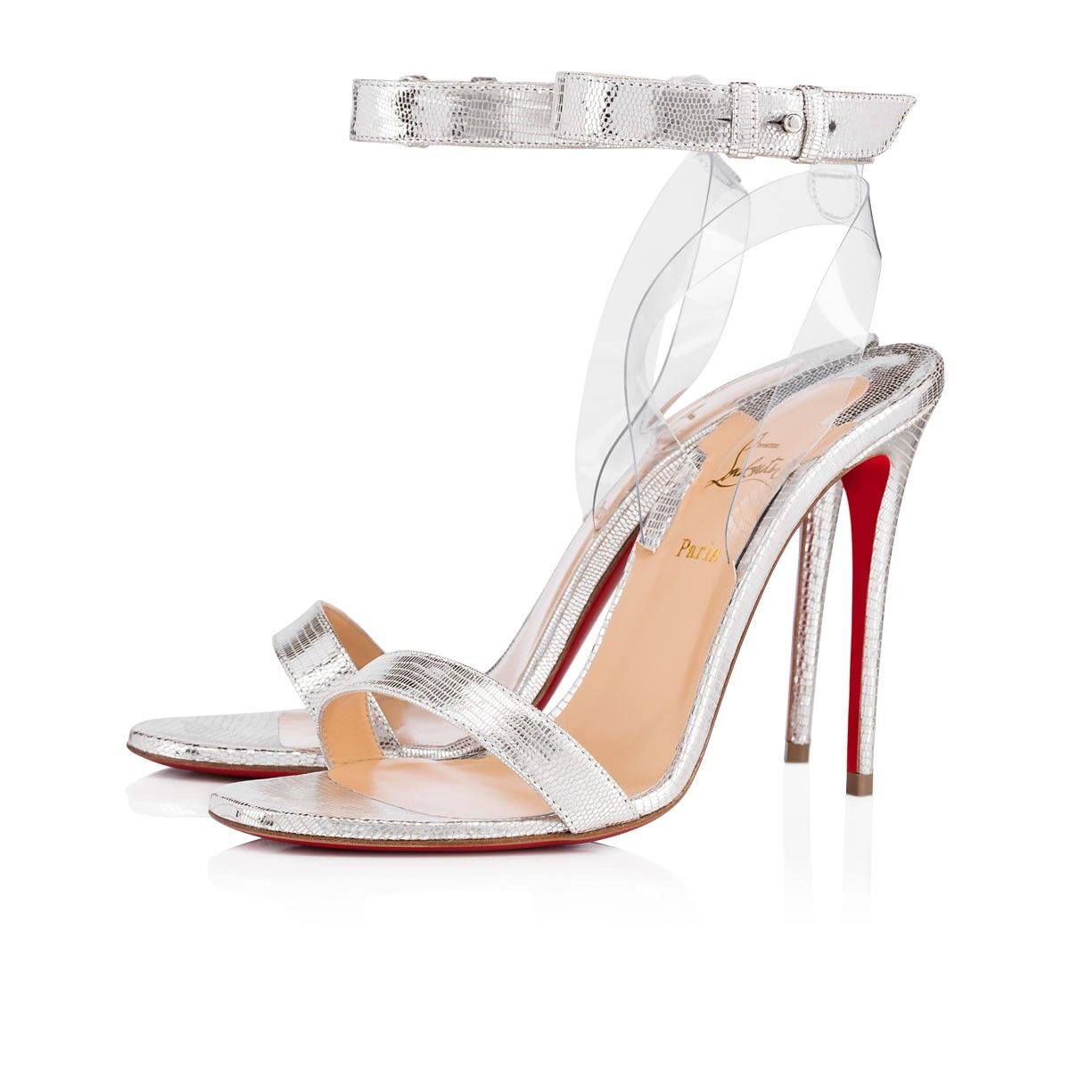 Jonatina Embodies Minimalist Elegance A Transparent Pvc Heel Feature Creates The Estilo De Zapatos Zapatos Christian Louboutin Zapatos Sandalias