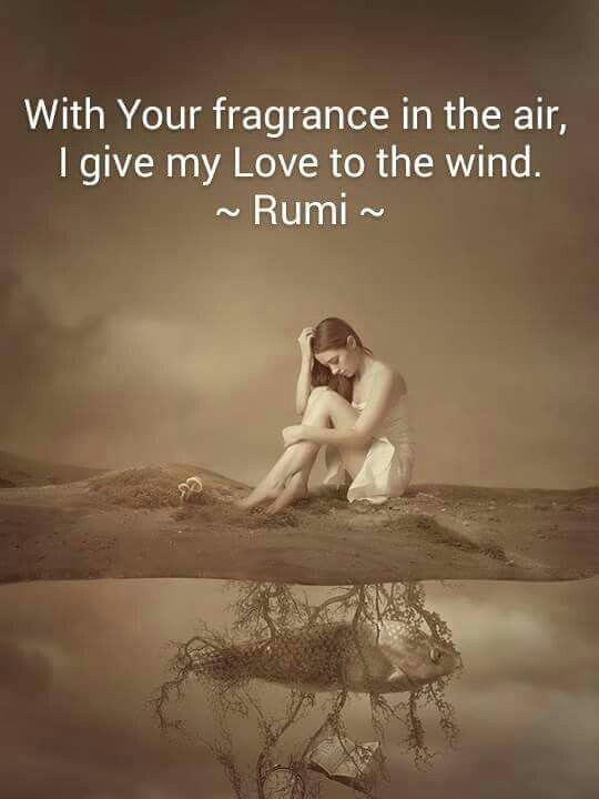 #Rumi ..with your fragance in the air, I give my love to the wind.