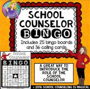 School Counselor Bingo School Counselor School And Counselling