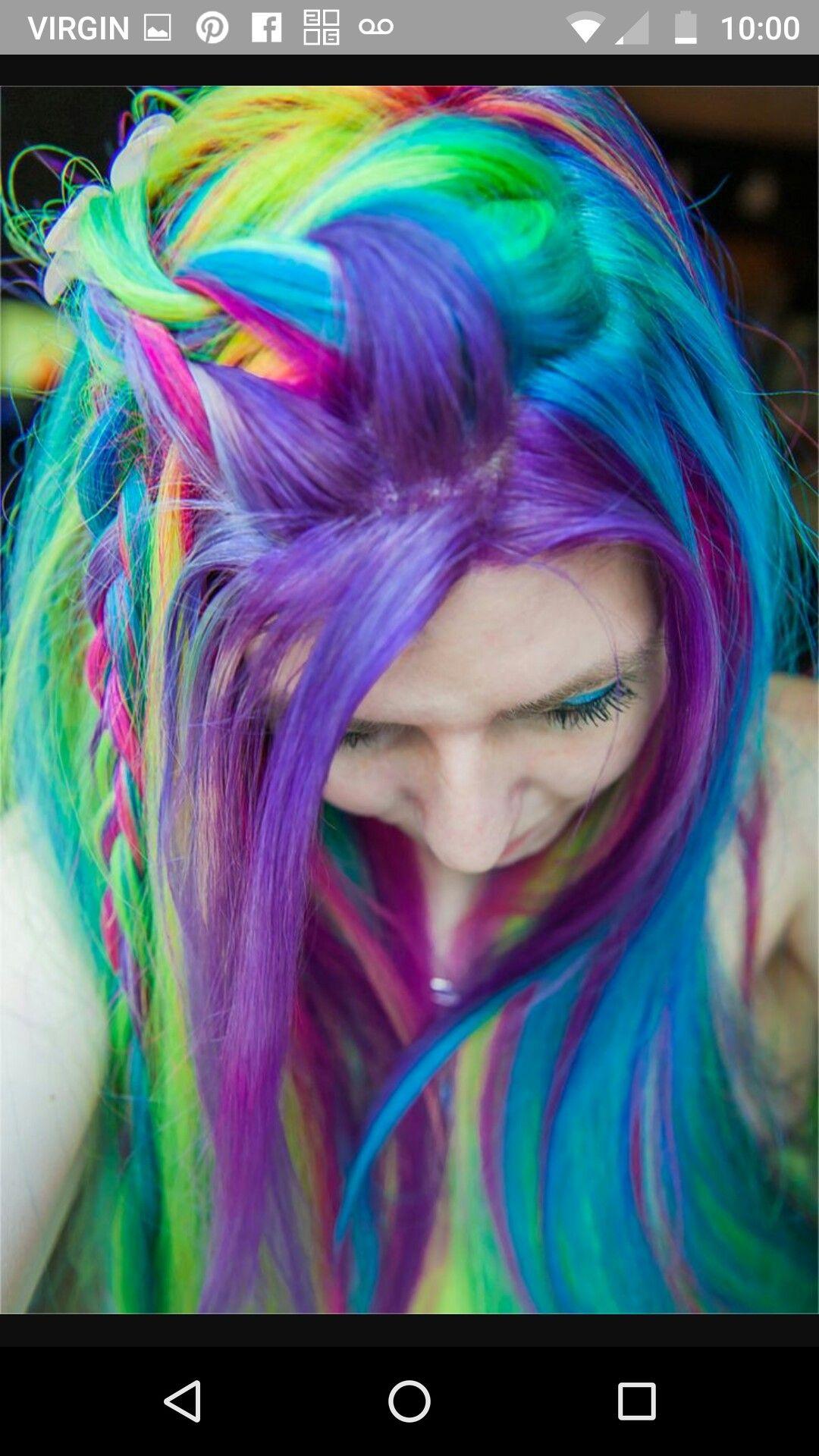 Pin by Sarah on Hair (multicolor & braids) Hair styles