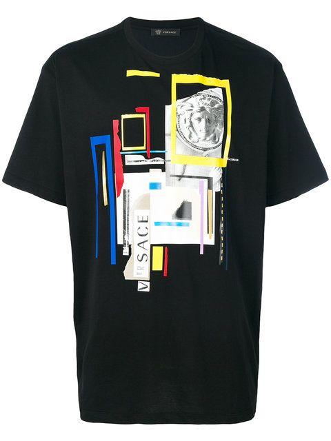 209ae599 VERSACE Graphic Medusa Print T-Shirt. #versace #cloth #t-shirt ...