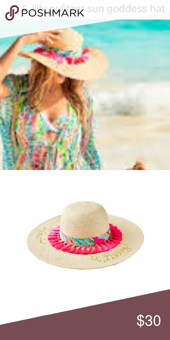 Lilly Pulitzer sun goddess hat Lilly Pulitzer sun goddess hat worn once it  is just too a6b781ca8270