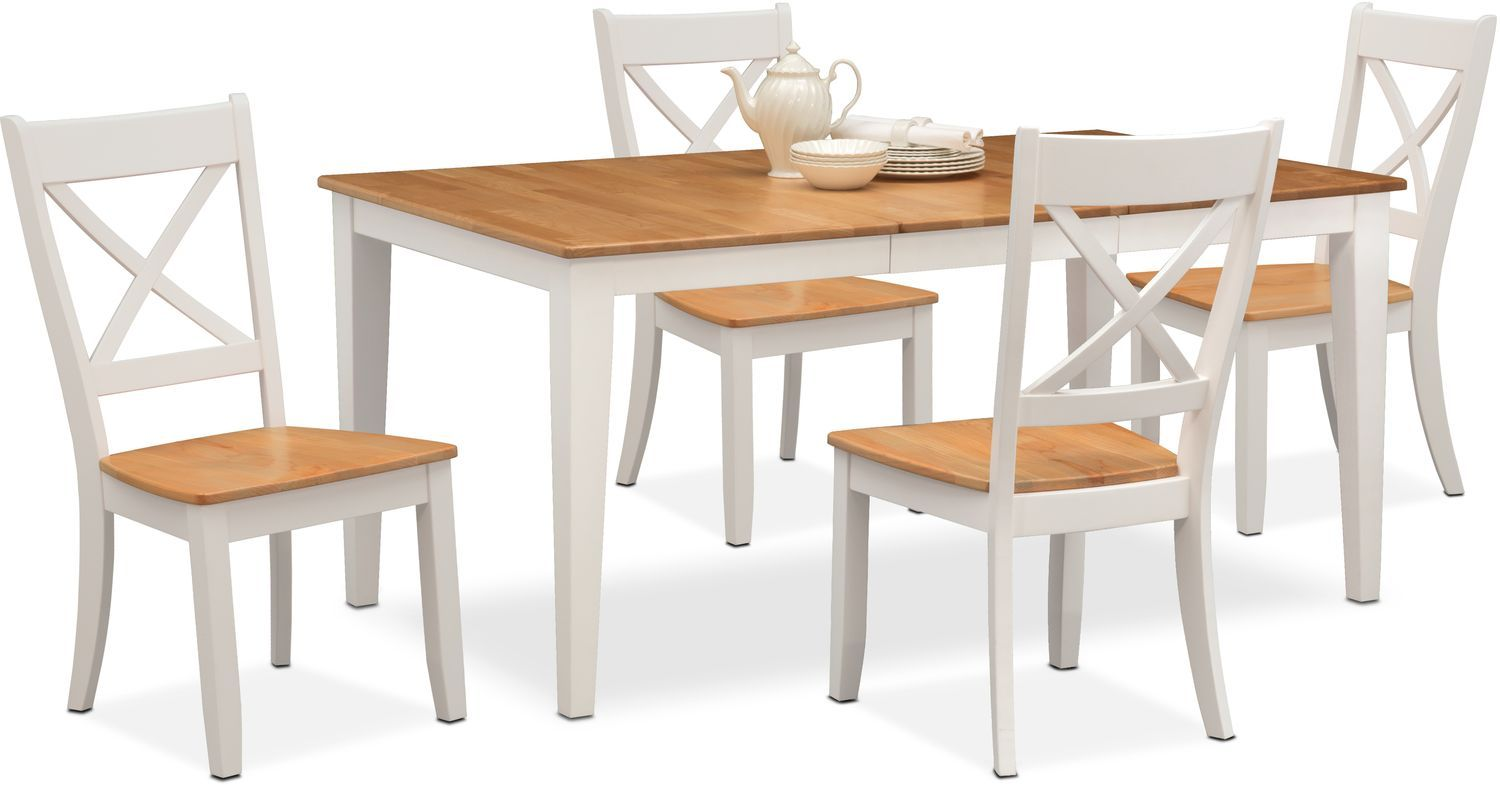 Nantucket Dining Table And 4 Dining Chairs Dining Room