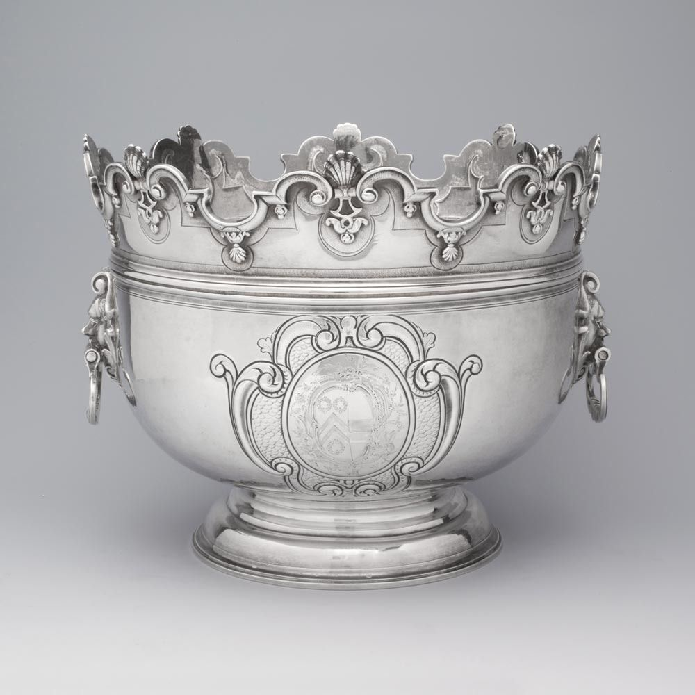 Queen Anne Antique Silver Monteith Bowl