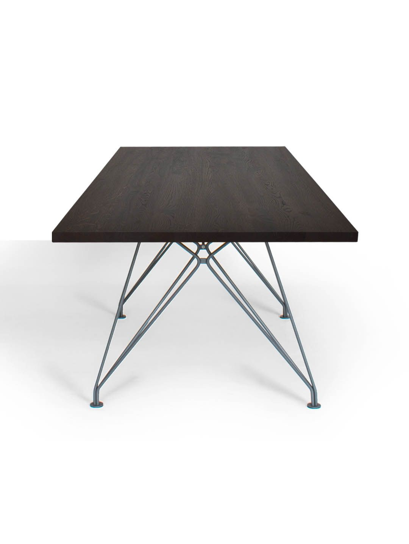 Rig Design Tisch Mit Drahtgestell Und Tischplatte Aus Massivholz Dieser Design Tisch Mit Drahtgestell Kann Im Mbzwo Onlineshop Nach Maß Konfiguriert Und In U