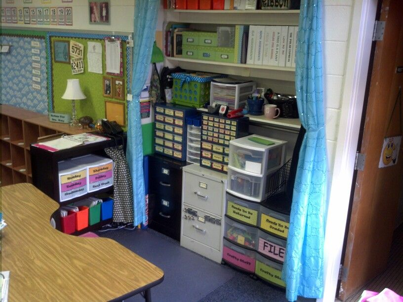 Best 20 no teacher desk ideas on pinterest teacher - Classroom desk organization ideas ...