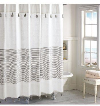 Peri Home Panama Stripe Shower Curtain