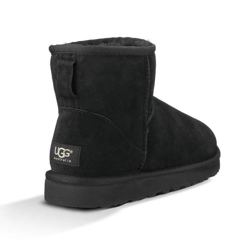 ugg mini leather noir