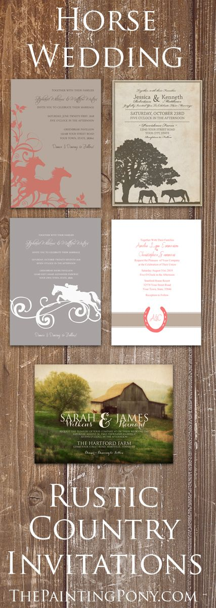 Large Collection Of Horse Themed Wedding Invitations Save The Dates