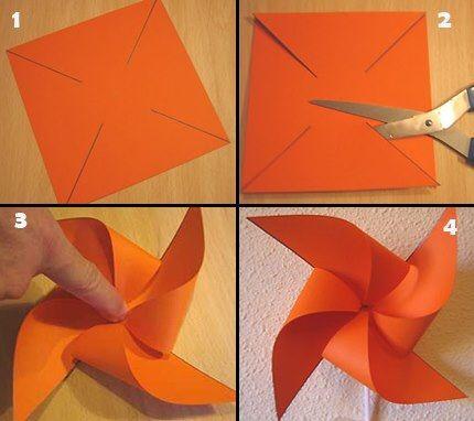 rehilete de papel doblado