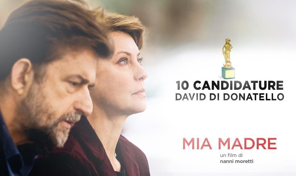#MiaMadre il nuovo film di #NanniMoretti ottiene ben 10 candidature ai #DavidDiDonatello2015!
