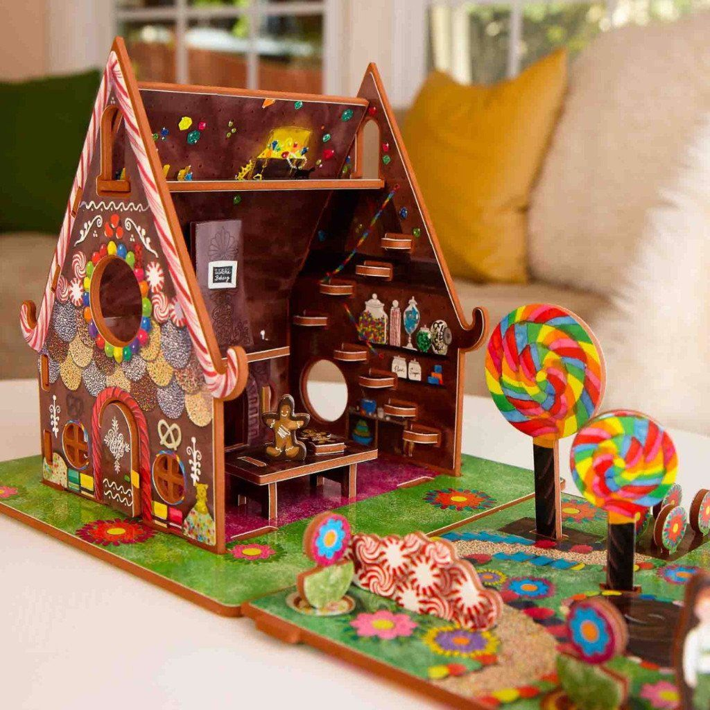 Hansel and Gretel Christmas gingerbread house