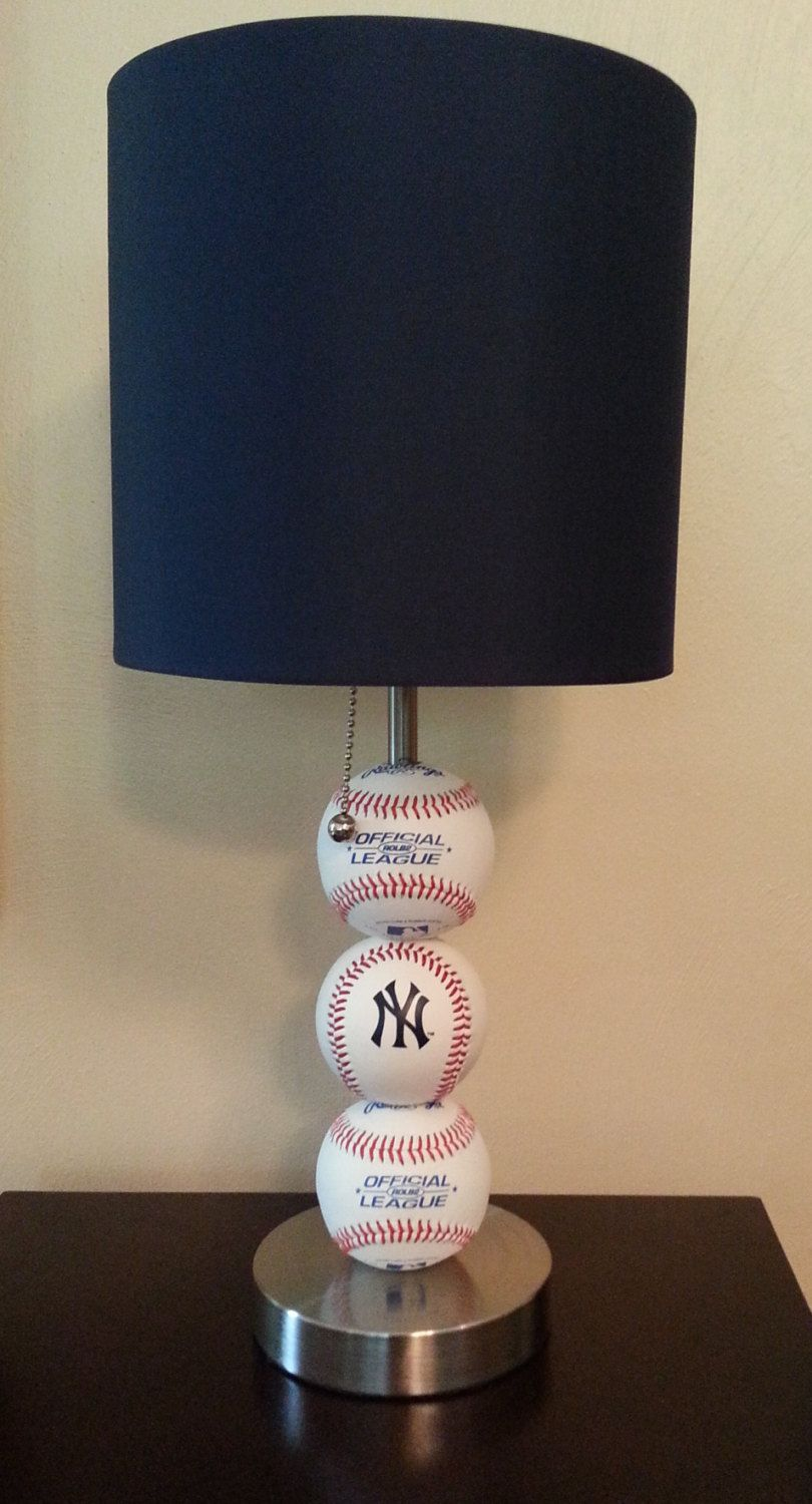 New York Yankees Fan Mlb Baseball Lamp Nursery